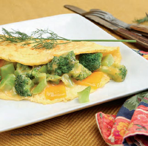 Egg Omelet With Broccoli And Cheddar - 3 Pts Recipes — Dishmaps